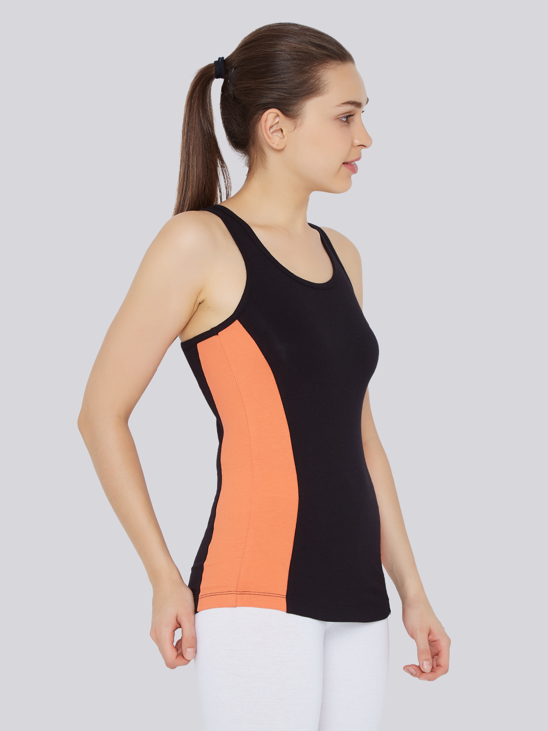 Womens Signature Racerback - Black  Orange - Bamboo Tribe-7224