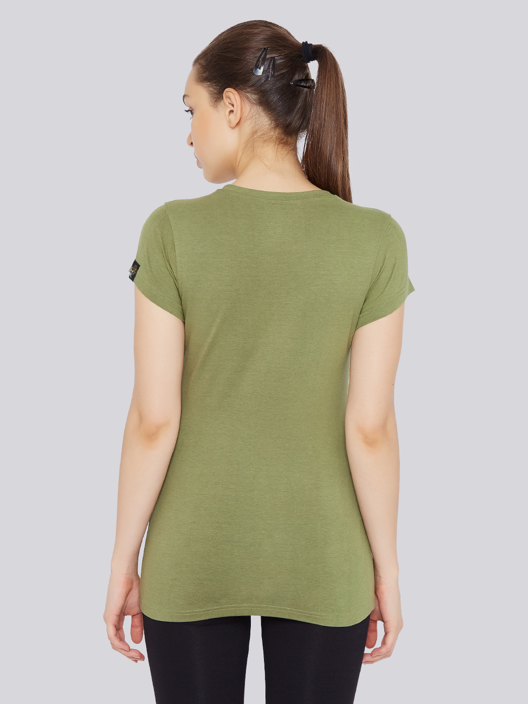 Women 39 s focus t shirt olive green bamboo tribe for T shirt printers online